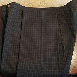 RALPH LAUREN- Navy Blue and Green Checked Pants